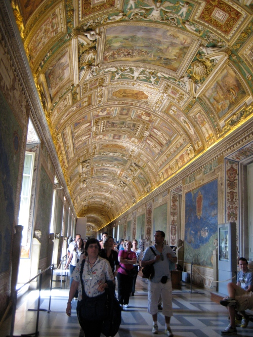 My favorite room in the Vatican. . . the Map Room